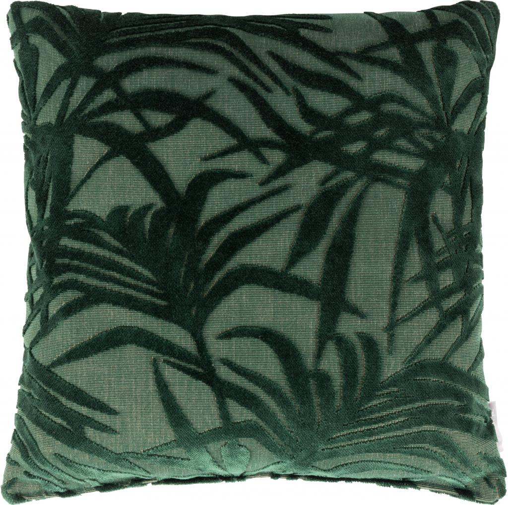 Stoelkussen 45 X 45.Kussen Miami Palm Tree Groen 45 X 45 Cm Zuiver Lil Nl